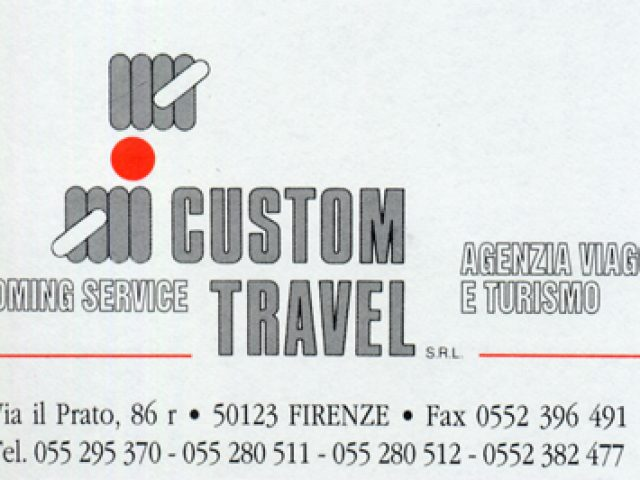 Custom Travel – Farvi viaggiare, la nostra professione.